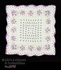 VINTAGE HANDKERCHIEF WITH LOTS AND LOTS OF PURPLE ROSES