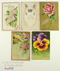 LOT OF FIVE VINTAGE BIRTHDAY POSTCARDS 1909 1913 1914