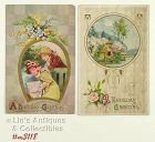 LOT OF TWO VINTAGE BIRTHDAY POSTCARDS WITH 1910 POSTMARKS
