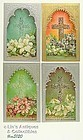 FOUR VINTAGE EASTER POSTCARDS WITH CROSSES