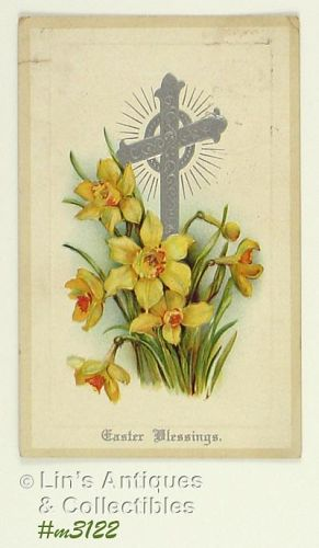 EASTER BLESSING VINTAGE POSTCARD