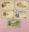 LOT OF FIVE ASSORTED VINTAGE POSTCARDS 1907 AND 1908