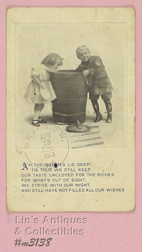 VINTAGE CHILDREN POSTCARD POSTMARKED 1910