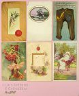 LOT OF SIX ASSORTED POSTCARDS Dated 1907 1908 and 1909