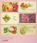 LOT OF SIX ASSORTED POSTCARDS DATED 1909 1913 AND 1923