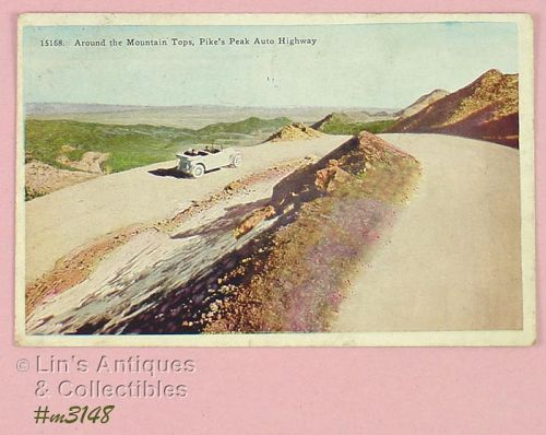 PIKE�S PEAK AUTO HIGHWAY VINTAGE POSTCARD