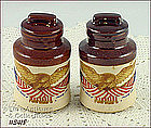 McCOY POTTERY � SPIRIT OF �76 SHAKER SET