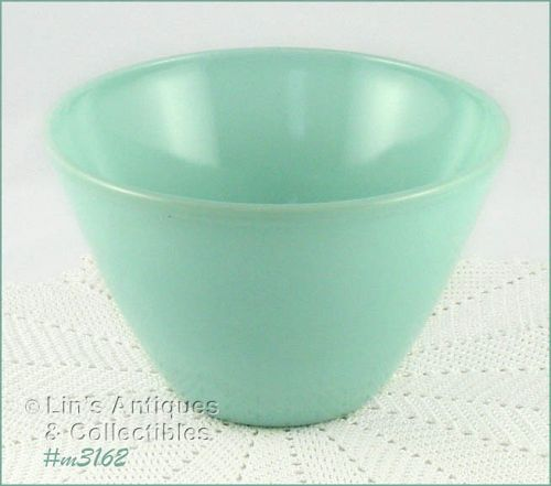 FIRE KING VINTAGE TURQUOISE BLUE MIXING OR SERVING BOWL