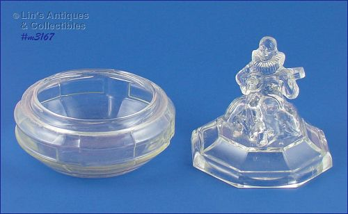 �MINSTREL� GLASS POWDER JAR