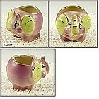 SHAWNEE POTTERY � PURPLE ELEPHANT PLANTER (GOLD TRIM)