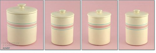 McCOY POTTERY � PINK AND BLUE CANISTER SET