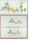 EMBROIDERED YELLOW FLOWERS PILLOWCASES