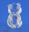 GLASS TEDDY BEAR FIGURINE (3 ¾�)