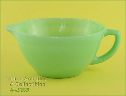 FIRE KING JADITE BATTER BOWL FIRE KING JADITE MIXING BOWL