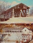 LOT OF 2 COVERED BRIDGE POSTCARDS INDIANA COVERED BRIDGES