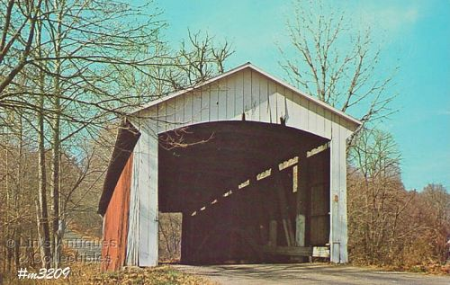 COVERED BRIDGE POSTCARD � COVERED BRIDGE, PARKE COUNTY, INDIANA, No. 6