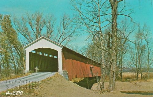 COVERED BRIDGE POSTCARD COVERED BRIDGE, PARKE COUNTY, INDIANA, No. 7