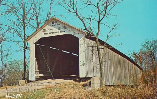 COVERED BRIDGE POSTCARD COVERED BRIDGE,PARKE COUNTY, INDIANA, No. 11