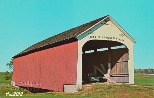 COVERED BRIDGE POSTCARD COVERED BRIDGE, PARKE COUNTY, INDIANA, NO. 13