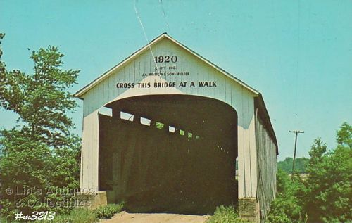 COVERED BRIDGE POSTCARD COVERED BRIDGE, PARKE COUNTY, INDIANA, NO. 14
