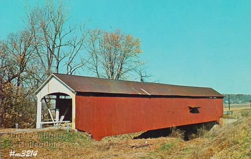 COVERED BRIDGE POSTCARD JESSUP BRIDGE, PARKE COUNTY, INDIANA, No.15