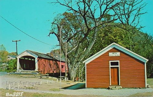 COVERED BRIDGE POSTCARD �COVERED BRIDGE, PARKE COUNTY, INDIANA, No. 21