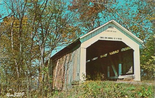 COVERED BRIDGE POSTCARD COVERED BRIDGE, PARKE COUNTY, INDIANA, NO. 23