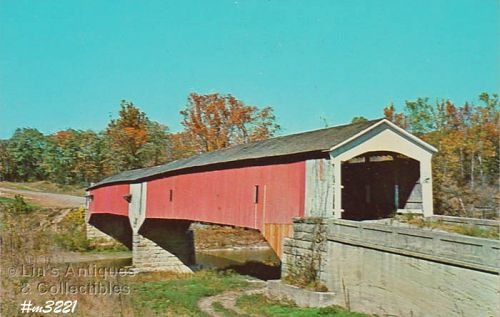 COVERED BRIDGE POSTCARD COVERED BRIDGE, PARKE COUNTY, INDIANA, No. 26