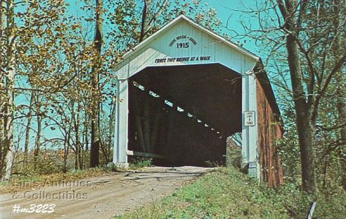 COVERED BRIDGE POSTCARD COVERED BRIDGE, PARKE COUNTY, INDIANA, No. 32