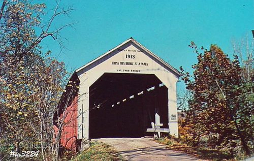 COVERED BRIDGE POSTCARD COVERED BRIDGE, PARKE COUNTY, INDIANA, No. 36