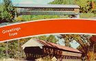 COVERED BRIDGE VINTAGE POSTCARD COVERED BRIDGE POSTCARD