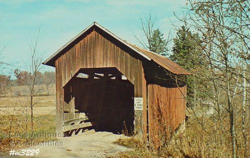 COVERED BRIDGE POSTCARD COVERED BRIDGE, BROWN COUNTY, INDIANA