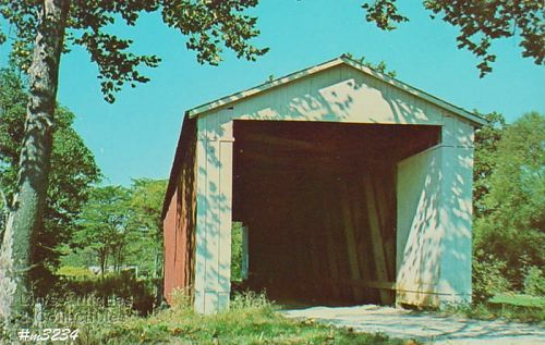 POSTCARD � COVERED BRIDGE, FOUNTAIN COUNTY, INDIANA