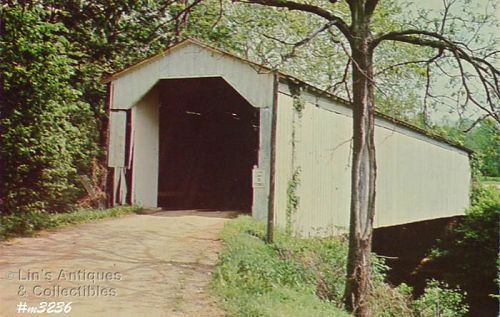 COVERED BRIDGE POSTCARD CADE�S MILL COVERED BRIDGE