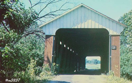 COVERED BRIDGE POSTCARD COVERED BRIDGE, JENNINGS COUNTY, INDIANA