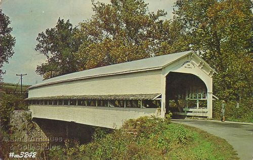 COVERED BRIDGE POSTCARD COVERED BRIDGE, DECATUR COUNTY, INDIANA