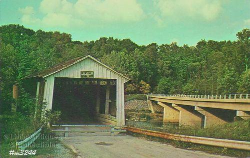 COVERED BRIDGE POSTCARD DEER�S MILL COVERED BRIDGE