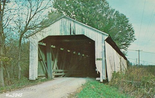 COVERED BRIDGE POSTCARD COVERED BRIDGE, MONTGOMERY COUNTY, INDIANA