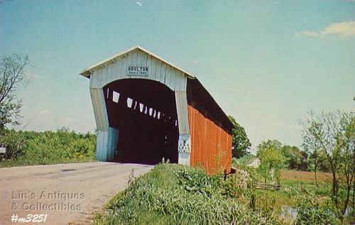 POSTCARD � COVERED BRIDGE, DE KALB COUNTY, INDIANA