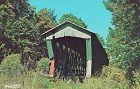 COVERED BRIDGE POSTCARD COVERED BRIDGE, DE KALB COUNTY, INDIANA