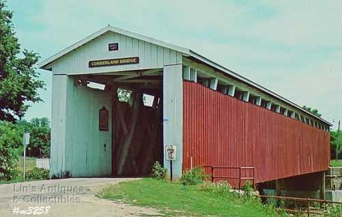 COVERED BRIDGE POSTCARD COVERED BRIDGE, GRANT COUNTY, INDIANA