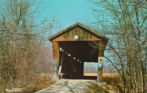 COVERED BRIDGE POSTCARD COVERED BRIDGE, MONROE COUNTY, INDIANA