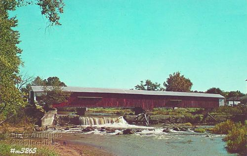POSTCARD � COVERED BRIDGE, PARKE COUNTY, INDIANA