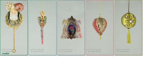 LOT OF 5 CHRISTMAS ORNAMENTS