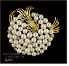 LISNER RHINESTONE AND FAUX PEARL PIN