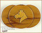 WOODEN HORSE HEAD PIN