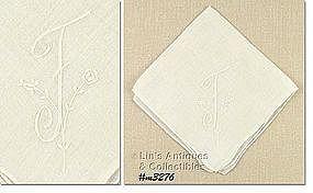 WHITE HANDKERCHIEF WITH �F� MONOGRAM