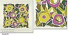 VINTAGE 1970s COLORFUL �MOD� DESIGN PATTERN HANDKERCHIEF