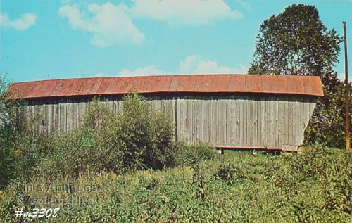 POSTCARD � PORTER COVERED BRIDGE, BRISTOL, OHIO