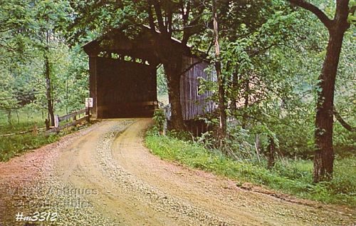 COVERED BRIDGE POSTCARD � WASHINGTON COUNTY #6 COVERED BRIDGE